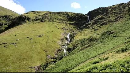 Moss Force waterfall Lake District National Park Cumbria uk