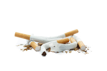 stop smoking, isolated on white