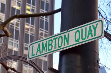 Lambton Quay in Wellington - New Zealand