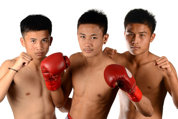 Group of  Real Muay Thai Boxer (Thailand Boxing)