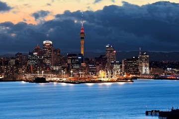 Auckland & Sunset