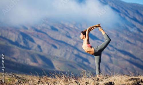 Leinwanddruck Bild Yoga Woman
