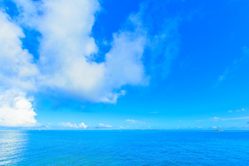 Clouds and blue ocean in Okinawa, Japan