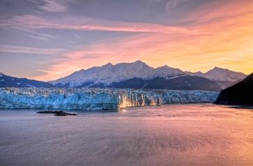 Sunrise at Hubbard Glacier Alaska.