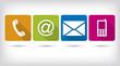 Zdjęcia na płótnie, fototapety, obrazy : Contact us. Colors. Apps