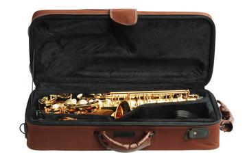 Saxophone In Open Case