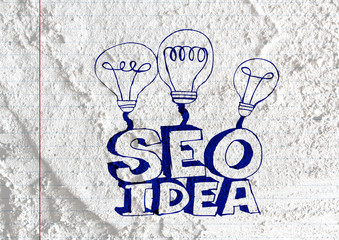 Seo Idea SEO Search Engine Optimization on Cement wall texture b