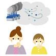 大気汚染 PM2.5 親子 / vector eps10