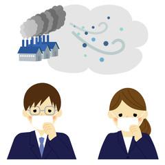 大気汚染 PM2.5 会社員 / vector eps10