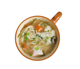 chicken noodle soup - broth.