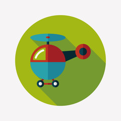 helicopter flat icon with long shadow,eps10