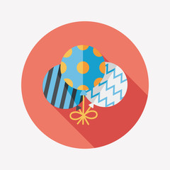balloons flat icon with long shadow,eps10