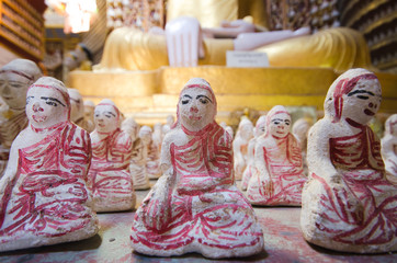 Ancient dolls in a pagoda Myanmar