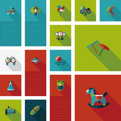 kid toys flat ui background,eps10