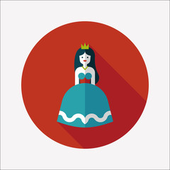 Princess flat icon with long shadow