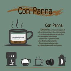 Con panna coffee