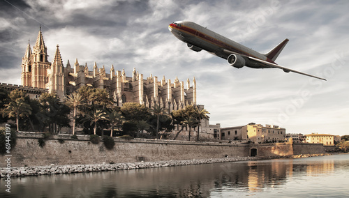 Leinwandbild Motiv avion de pasajeros