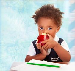 Cute African preschooler