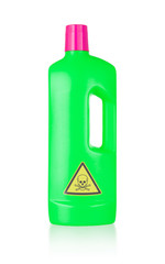 Plastic bottle cleaning-detergent, poisonous