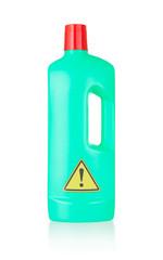 Plastic bottle cleaning-detergent, danger