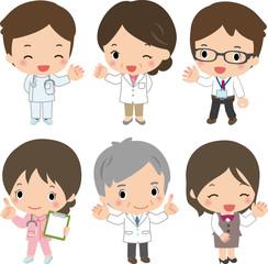 病院のスタッフたち