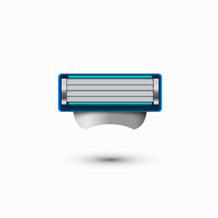 Vector modern razor icon on white background