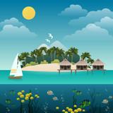 Fototapety Tropical island background