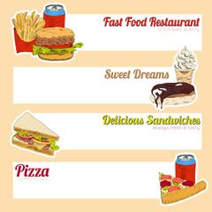 Fast food menu banner