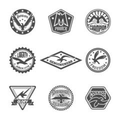 Eagle label icon set