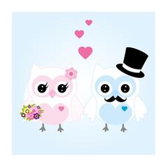 Eulen Hochzeit