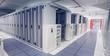 Leinwandbild Motiv Empty hallway of server towers