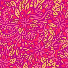 Flowering Garden. Seamless decorative pattern.