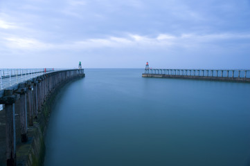 Entrance to the harbour at Whitby, North Yorkshire
