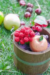 Fruits in bucket
