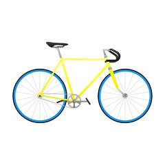 Fixie yellow bicycle