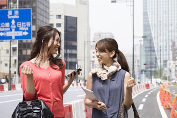 Young women working in Tokyo
