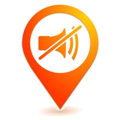 muet sur symbole localisation orange