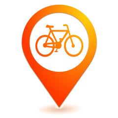 piste cyclable sur symbole localisation orange