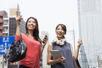 Young women working in Tokyo