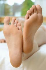 Gepflegte Füße einer Frau