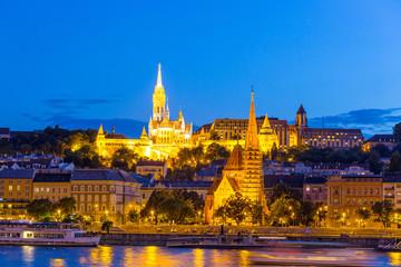 Panorama of Budapest at sunset, Hungary