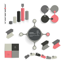 Infographic set elements. Business collection. Vector.