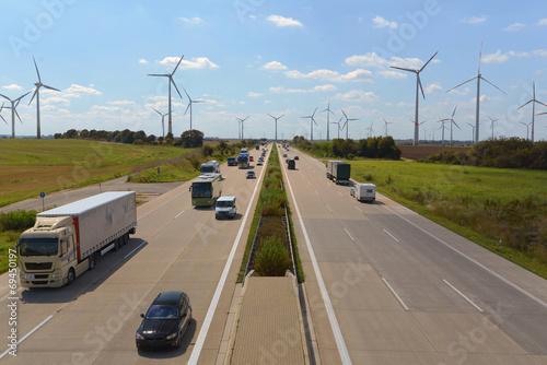 Deurstickers Fahrzeuge auf Autobahn // shipping worldwide