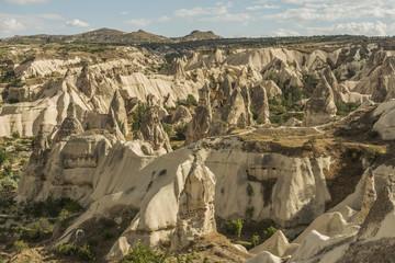 Morning Twilight in Fairy Chimneys of Goreme Valley Cappadocia