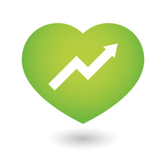 Heart icon with a graph