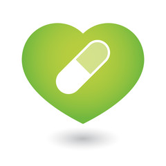 Heart icon with a pill