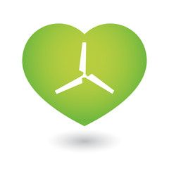 Heart icon with a propeller