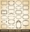 24 hand-drawn vintage frames and panels (vector)