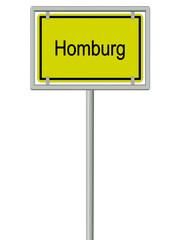 Homburg - Ortsschild