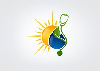 Stethoscope pharmacy logo bio energy medicine symbol